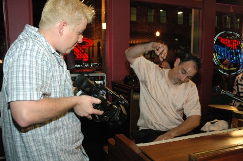 Joe shoots Tony Monaco going wild!  - Park Street Tavern - Columbus, OH - Photo Courtesy:  Michael Ivey